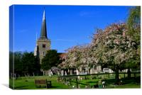 St John the Baptist Church, Danbury, Essex, Canvas Print