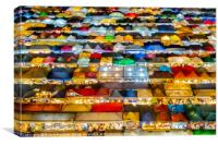 Ratchada Rot Fai Market, Bangkok, night top view, Canvas Print