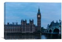 The Tower of Big Ben, Canvas Print