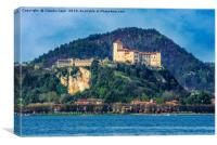 The Rock of Angera, Italy, Canvas Print