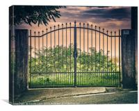 Gate, street number 22, Canvas Print