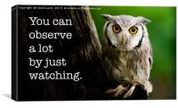 You Can Observe A Lot By Just Watching, Canvas Print