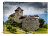 Vaduz Castle, Canvas Print