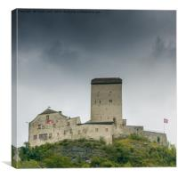 Sargans Castle, Canvas Print