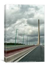 Pont de Brotonne, Canvas Print