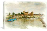Rapperswil Cityscape 2, Canvas Print