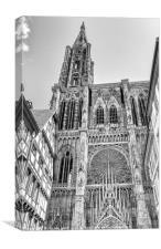 Strasbourg Cathedral, Canvas Print