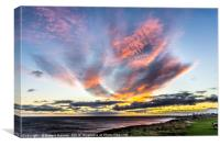 Seaham Clouds at Sunrise, Canvas Print