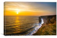 Golden Sunrise at Chemical Beach, Seaham., Canvas Print