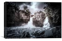 High Force Waterfalls, Canvas Print
