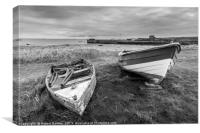 Boats of Holy Island, Canvas Print