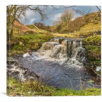 Waterfall on Ettersgill Beck, Upper Teesdale, Canvas Print