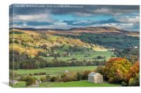 Low Row & Calver Hill, Swaledale, Yorkshire Dales, Canvas Print
