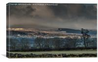 Wintry Barningham, Teesdale, Canvas Print