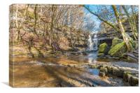 Summerhill Force and Gibson's Cave, Teesdale, Canvas Print
