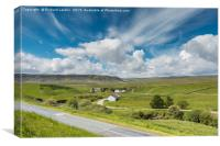 Big Sky over Langdon Beck, Upper Teesdale, Canvas Print