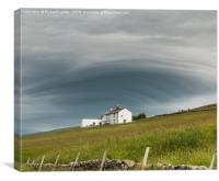 Unusual Cloud Cover, Canvas Print