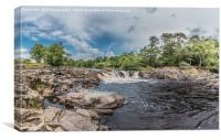 River Tees Horseshoe Falls above Low Force, Canvas Print