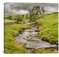 Ettersgill Beck Teesdale after a Wet Day 2, Canvas Print