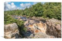 The River Tees Upstream from High Force Waterfall, Canvas Print