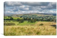 North over Laithkirk, Teesdale, Canvas Print