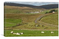 Upper Harwood from Lingy Hill (1), Canvas Print