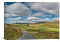 Harwood, Upper Teesdale, Vertical Panorama, Canvas Print
