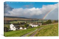 Arla Burn Farm to Holwick and Rainbow, Teesdale, Canvas Print