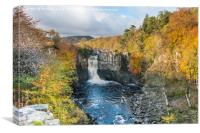 Autumn Colours at High Force Waterfall 1, Canvas Print