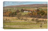 East Friar House from Holwick, Teesdale, Canvas Print