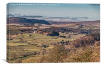 Over Holwick, Teesdale, to Cross Fell, Canvas Print