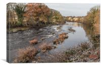 A Frosty Morning on the Tees at Barnard Castle, Canvas Print