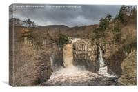 High Force Waterfall, Teesdale, In Spate, Canvas Print