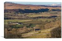 Over to Holwick, Teesdale, Canvas Print