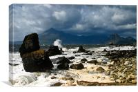 Storm Clouds Over Elgol Beach, Canvas Print
