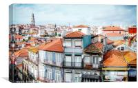 Porto's skyline with traditional houses, Canvas Print