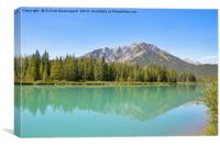 Reflection on Bow River, Canvas Print