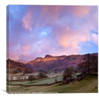 Sunrise in the Langdale Valley, Lake District, Canvas Print