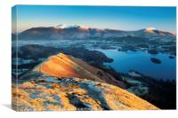 Derwent Water from Catbells, Lake District, Canvas Print