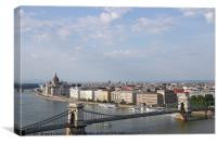 Chain bridge and Hungarian Parliament Budapest, Canvas Print