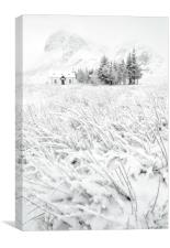 The Winter Cot, Canvas Print