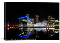 Media City -Reflections , Canvas Print