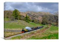 Steam in the Hills , Canvas Print