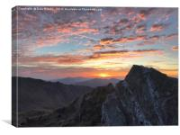 Mountain with sunrise, Canvas Print