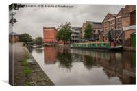 Nottingham canal and British Waterways building., Canvas Print