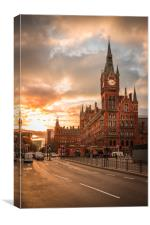 St Pancras Station , Canvas Print
