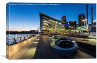 Sunset at Media City, Salford Quays, Canvas Print
