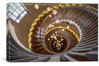 Heals Department Store Spiral Staircase, London, Canvas Print