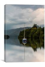Derwentwater reflections, Canvas Print