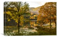 Coniston Water in Flood, Canvas Print